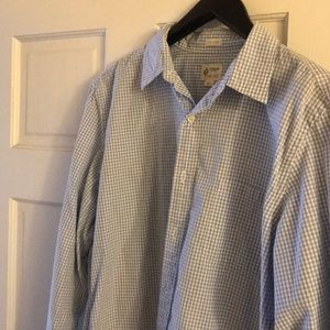 Jcrew blue check shirt